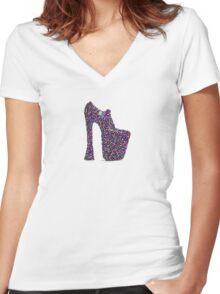 Shoe Heaven Women's Fitted V-Neck T-Shirt