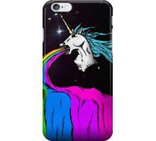Unicorn puking rainbow iPhone Case/Skin