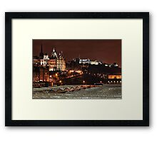 Edinburgh Castle at Night - Scottland Framed Print