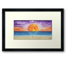 Blood Moon on Coochie Framed Print