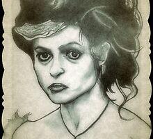 Helena Bonham Carter drawing by RobCrandall