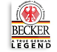 Cool 'Becker a True German Legend' T-shirts, Hoodies, Accessories and Gifts Metal Print