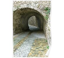 Ancient walls and alleys. Poster