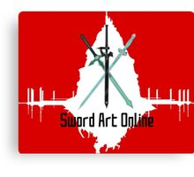 Sword Art Online Swords with Aincrad (Coloured Background #1) Canvas Print