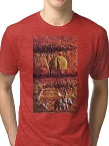 Exclusive: My Creations Artistic Sculpture Relief fact Main  PAINT 2 (c)(h) by Olao-Olavia / Okaio Créations Tri-blend T-Shirt