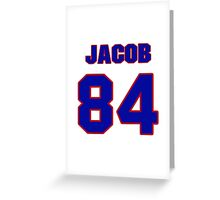 National football player Jacob Tamme jersey 84 Greeting Card