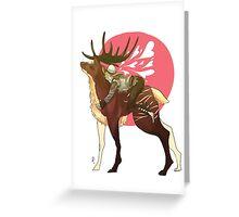 Deer Sweet Little Cole Greeting Card