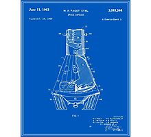 Space Capsule Patent - Blueprint Photographic Print