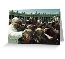 Zombie pope Greeting Card