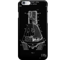 Space Capsule Patent - Black iPhone Case/Skin