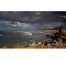 Stormy Day At The Beach Photographic Print
