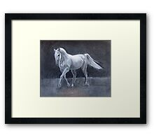 Horse Charcoal Drawing Framed Print