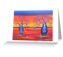 Blue Boabs Greeting Card
