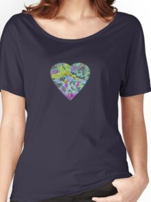 Color Burst Heart Women's Relaxed Fit T-Shirt