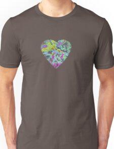 Color Burst Heart Unisex T-Shirt