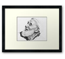Old man from from North Africa Framed Print