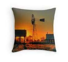 Wilber Water Tanks Throw Pillow