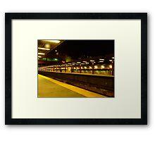 Night Train-Boston South Framed Print