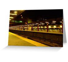 Night Train-Boston South Greeting Card