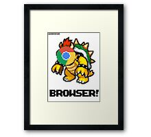 Browser! Mario Cars 2 64 shirt. Framed Print