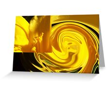 yellow lily swirl  Greeting Card