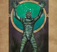Creature from the Black Lagoon - Nouveau by Hallowette
