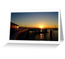Sunset At The Wharf Greeting Card
