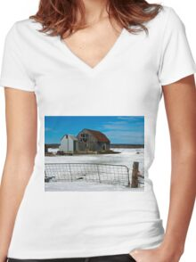Stairway to nowhere Women's Fitted V-Neck T-Shirt