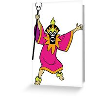 Scooby Doo Witch Doctor Villain Greeting Card