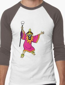 Scooby Doo Witch Doctor Villain Men's Baseball ¾ T-Shirt