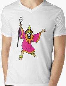 Scooby Doo Witch Doctor Villain Mens V-Neck T-Shirt