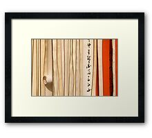 Chinese Scrolls Framed Print