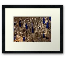 Bottles On High Framed Print