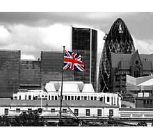 Union Jack on the HMS Belfast Photographic Print
