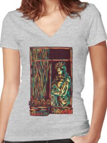 A window of Love Women's Fitted V-Neck T-Shirt