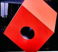 Red Cube by Bill Wynn