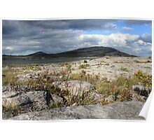 Mullaghmore mountain in the Burren Poster