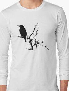 Little Birdy - Black Long Sleeve T-Shirt
