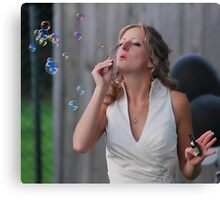Bubble Bride Canvas Print
