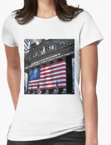 Wall St. New York City, USA Womens Fitted T-Shirt