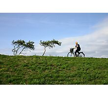 Cycling Through the Trees Photographic Print