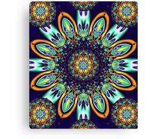 Artistic floral kaleidoscope Canvas Print