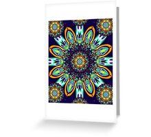 Artistic floral kaleidoscope Greeting Card