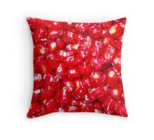 Pomegranate ruby-red jewel-like seeds Throw Pillow