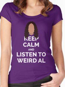 Keep Calm Weird Al Women's Fitted Scoop T-Shirt