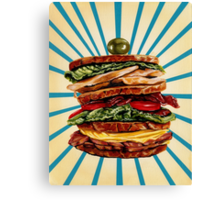 Turkey Club on Rye Canvas Print