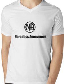 Narcotics Anonymous Small Black Mens V-Neck T-Shirt