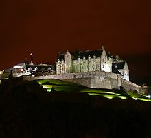 Edinburgh Castle at Night by Andrew Ness - www.nessphotography.com