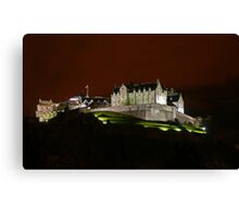 Edinburgh Castle at Night Canvas Print