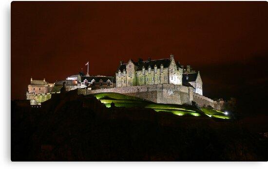 Edinburgh Castle at Night by Andrew Ness - www.nessphotography.com